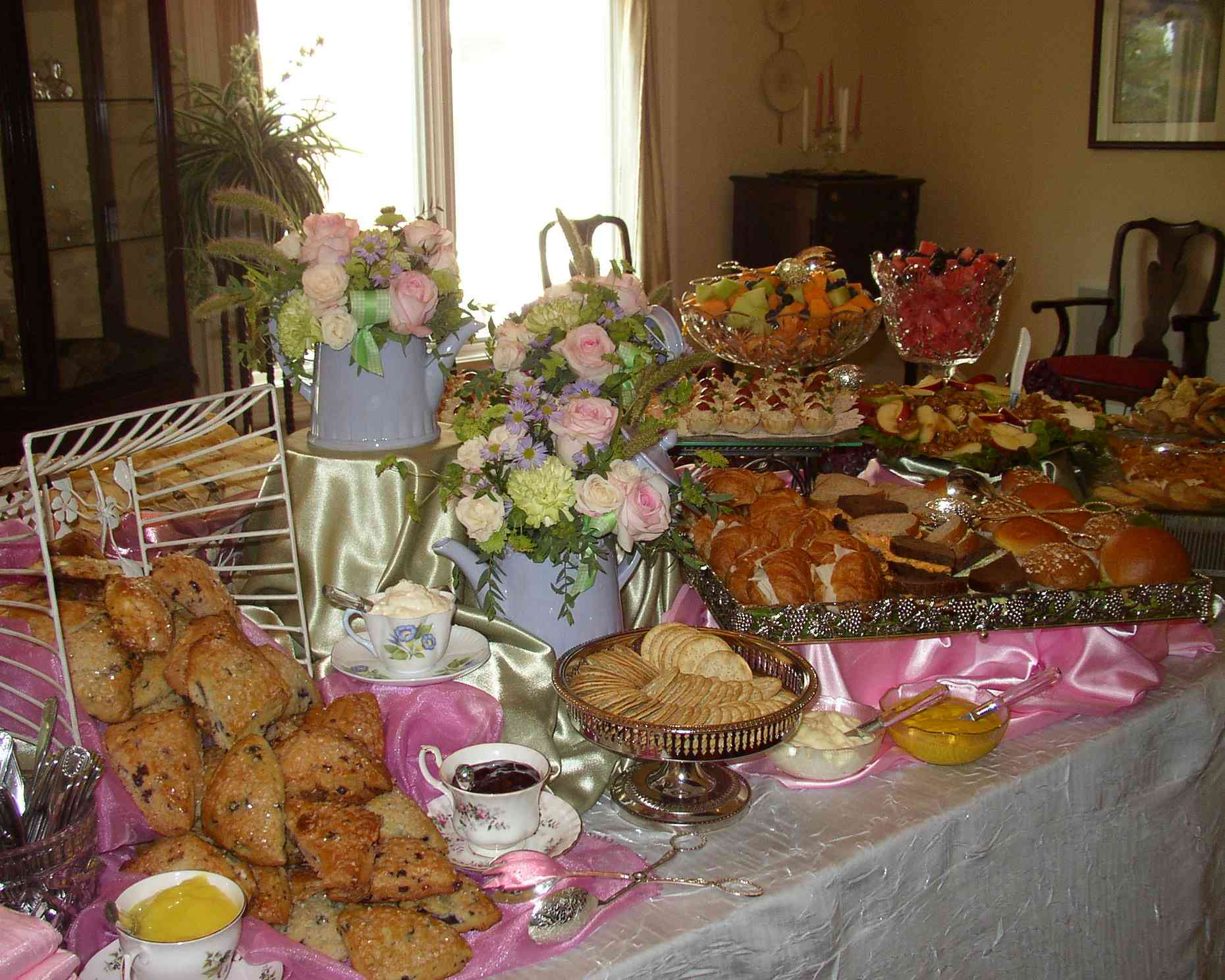 How to prepare a tea party for a crowd tea party girl for Table th row group