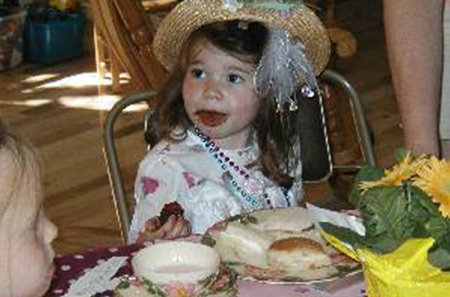 Tea Party Girl's Advice for a Tea Party with Children