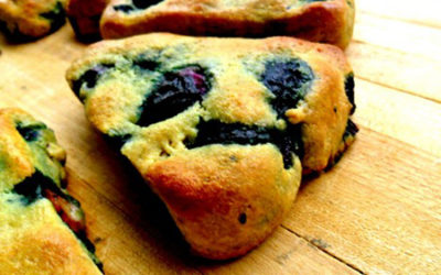 Almond Flour, Gluten Free, Blueberry Scones.