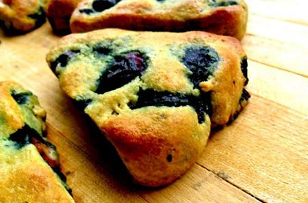Almond Flour, Gluten Free, Blueberry Scones.
