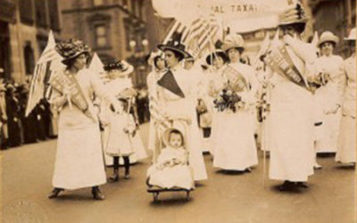 A vote suffrage tea party