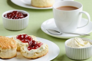Cream Tea with Jam and Cream